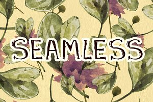 12 Seamless floral patterns