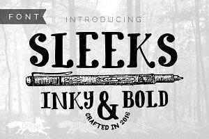 Sleeks Bold Serif, Hand-Drawn TTF