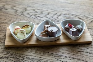 Swiss chocolate candies