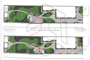 Site development plan, 2D sketch