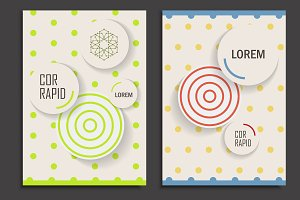 Brochure design template circles