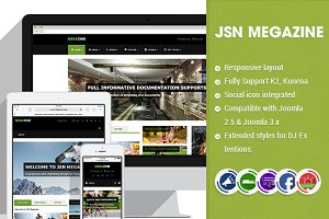 JSN Megazine-Great Magazine Template