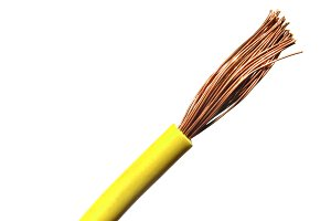 Yellow electric wire