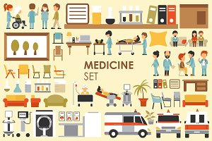 Medical Flat Objects - 9 collections