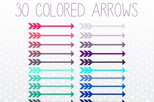Colorful Arrow Clip Art