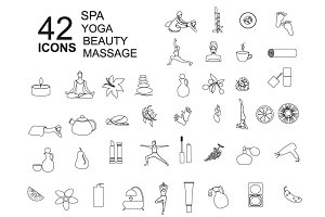 Line Spa, Massage, Beauty, Yoga Icon