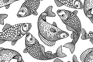 Patterns with decorative fish.