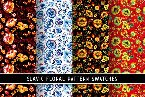Floral slavic seamless patterns #1