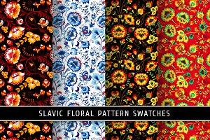Floral slavic seamless patterns #1
