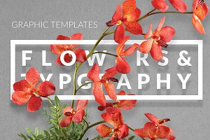 Flowers & Typography Mock-up