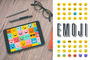 Emoji / emoticons bundle of icons