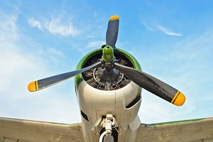 Old fighter aircraft