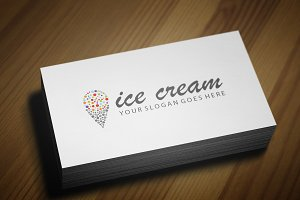 Colorful Ice-Cream Logo Template V.2