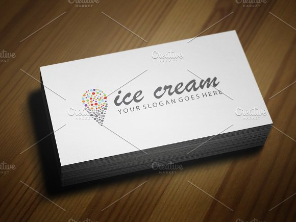 Colorful Ice-Cream Logo Template V.2 - Logos