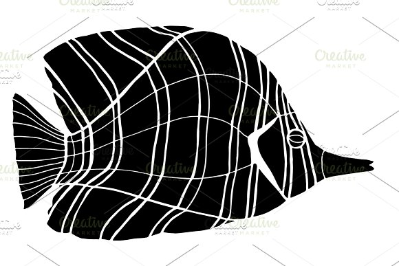 Monochrome stylized Fish in Graphics