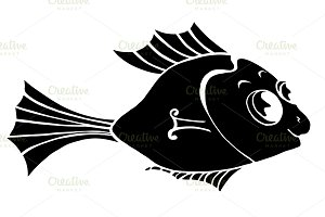 Monochrome stylized Fish