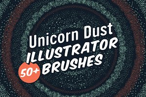 Unicorn Dust Illustrator Brushes