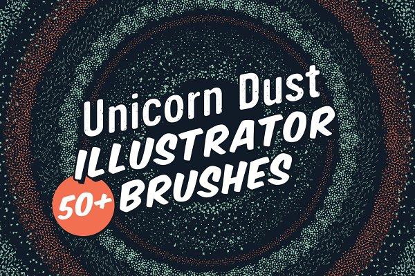 Unicorn Dust Illustrator Brushes