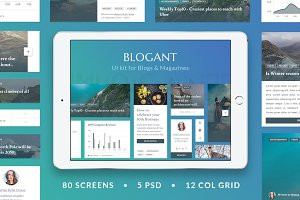 Blogant - UI KIT for Blogs