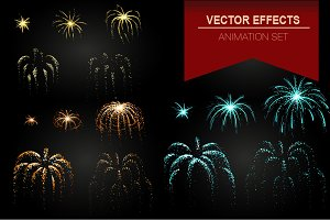 Fireworks vector effect animation