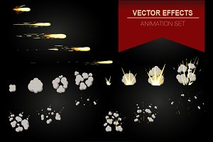 Vector effect animation for game