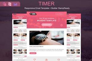 Timer - Responsive Email + Builder