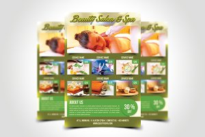 Beauty Salon & Spa Flyer Template
