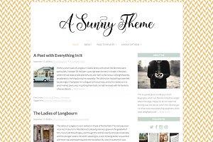 """Sunny"" Wordpress Theme"