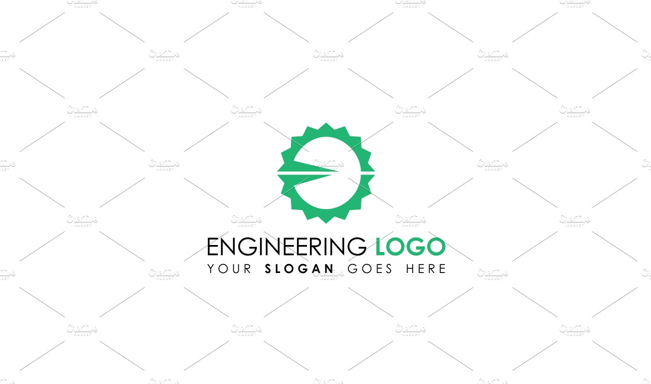 Flat gear engineering logo template logo templates for Engineering design firm