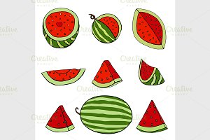 Set of watermelon