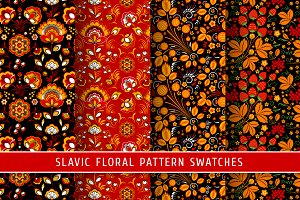 Floral slavic seamless patterns #3