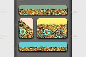 Abstract pattern cards set