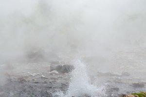 Spring hot water