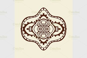 Rosette ornament vector illustration