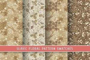 Floral slavic seamless patterns #5