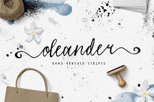 Oleander font (2 versions)