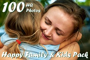 100 Photos Happy Family & Kids pack