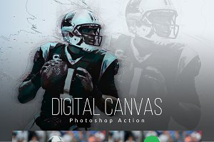 Digital Canvas Photoshop Actions