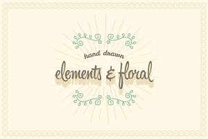 Hand Drawn Elements & Floral