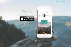 Pearl. | An Elegant App Landing Page