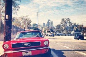 California Mustang Car Street Photo