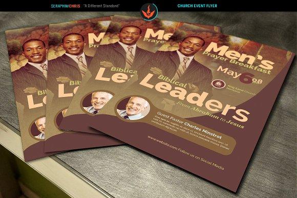 men s prayer breakfast church flyer flyer templates creative market