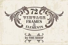 72 Vintage Frames & Elements Vol.5