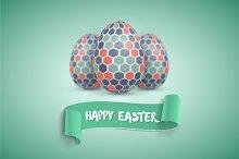 Realistic Vector Easter Egg Set