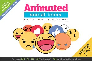 Animated Social Icons +Video Avatars