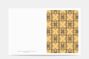 Geometric design postcard