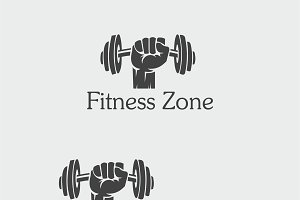 Fitness Zone Logo Template