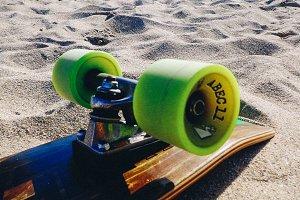 Longboard on a beach 2 ocean