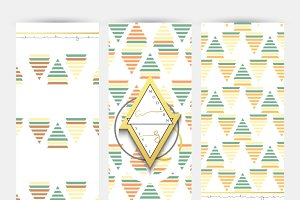 Brochure design geometric patterns