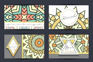 Mandala design business cards